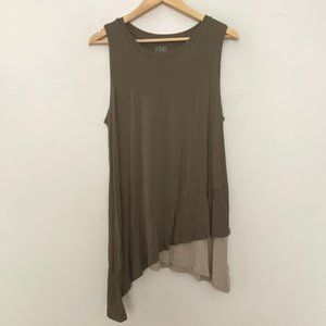 LOGO Lori Goldstein Large Knit Sleeveless Top